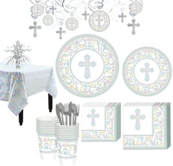 Blessed Day Religious Tableware Kit for 36 Guests