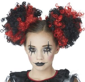 Adult Black & Red Puff Wig