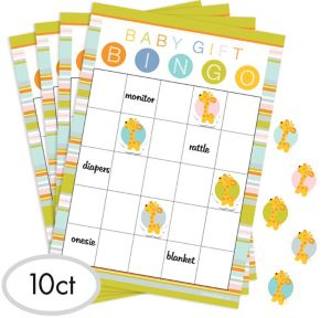baby shower bingo game baby shower games baby showers party city