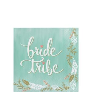 Mint to Be Bride Tribe Beverage Napkins 16ct