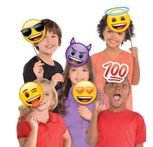 Smiley Photo Booth Props 8pc