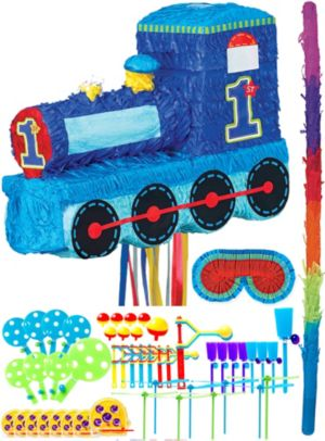 All Aboard 1st Birthday Pinata Kit with Favors