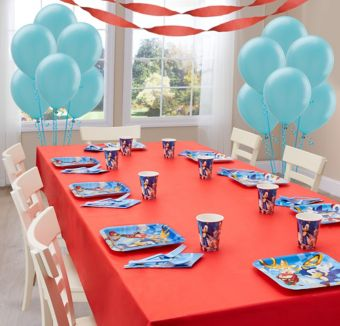 Sonic the Hedgehog Basic Party Kit for 8 Guests