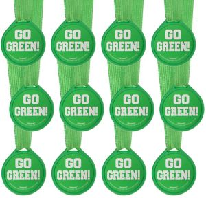 Go Green Award Medals 12ct