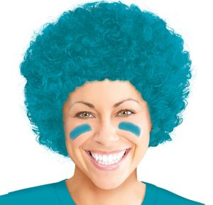 Turquoise Afro Wig