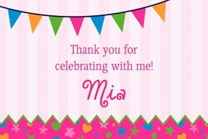 Custom Playful Pink Thank You Note