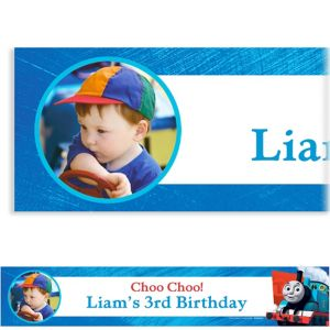 Custom Thomas the Tank Engine Photo Banner