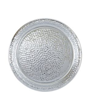 Silver Hammered Serving Tray