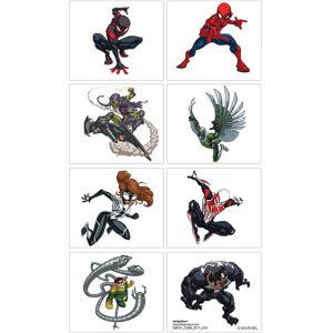 Spider-Man Webbed Wonder Tattoos 1 Sheet