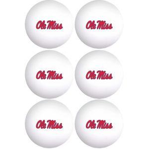 Ole Miss Rebels Pong Balls 6ct