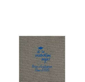 Personalized Graduation Tweed Print Beverage Napkins