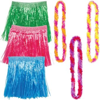 Adult Warm Luau Costume Accessory Kit for 3 Guests