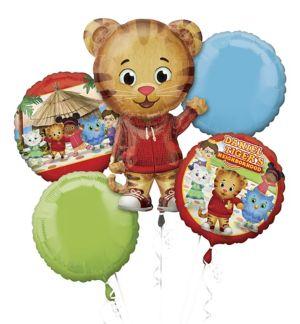 Giant Daniel Tiger Balloon Bouquet 5pc