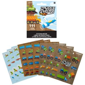 Trucks, Planes & Trains Sticker Book 9 Sheets