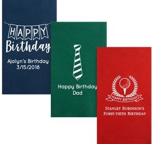 Personalized Birthday Premium Guest Towels