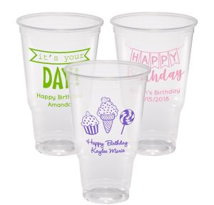 Personalized Birthday Plastic Party Cups 32oz