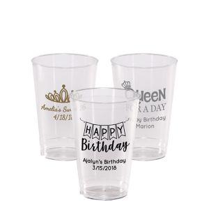 Personalized Birthday Hard Plastic Cups 12oz