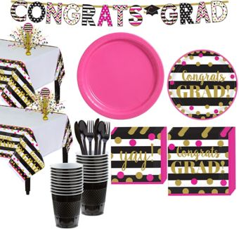 Confetti Graduation Tableware Kit for 18 Guests