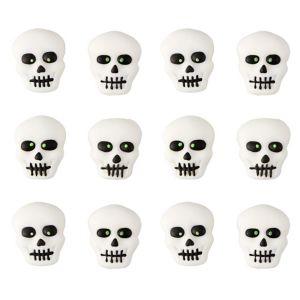 Skull Icing Decorations 12ct