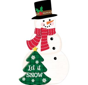 Snowman Easel Sign