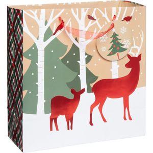 Reindeer Crossing Kraft Gift Bag