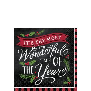 Most Wonderful Time Beverage Napkins 36ct
