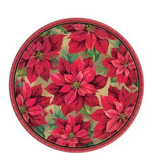 Holiday Poinsettia Dessert Plates 8ct