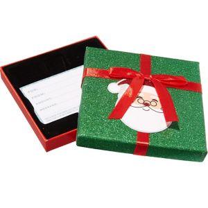 Glitter Green Santa Claus Gift Card Holder Box