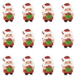Santa Icing Decorations 12ct