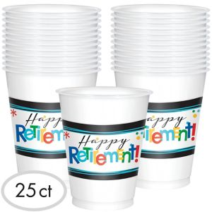 Happy Retirement Celebration Cups 25ct