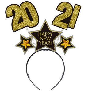 Glitter Black, Gold & Silver 2018 New Year's Head Bopper