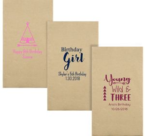 Personalized Girls Birthday Eco-Friendly Guest Towels
