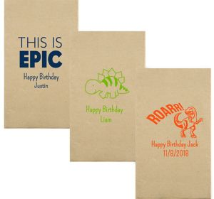 Personalized Boys Birthday Eco-Friendly Guest Towels