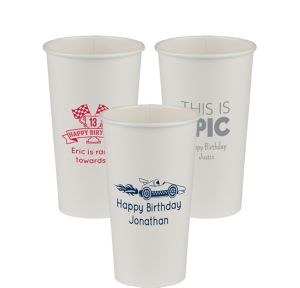 Personalized Boys Birthday Paper Cups 20oz
