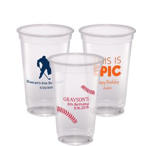 Personalized Boys Birthday Plastic Party Cups 20oz