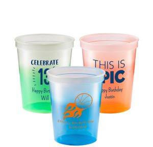 Personalized Boys Birthday Color-Changing Plastic Stadium Cups 16oz