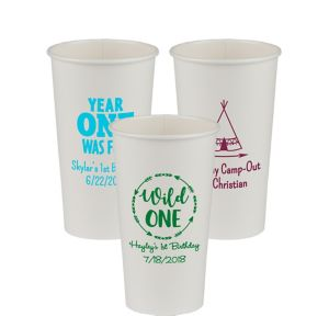 Personalized 1st Birthday Paper Cups 20oz