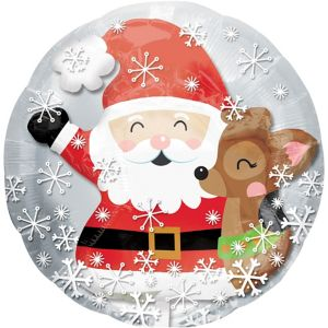 Reindeer & Santa Balloon - Insider