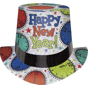 Prismatic Colorful New Year Top Hat