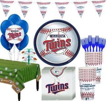 Minnesota Twins Super Party Kit for 16 Guests