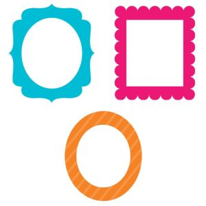 Bright Photo Booth Frames 3ct