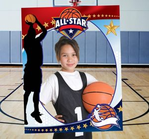Giant Basketball Photo Booth Frame