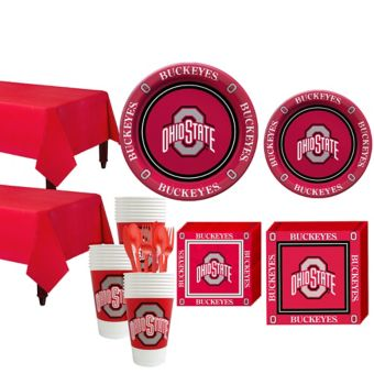 Ohio State Buckeyes Basic Party Kit for 40 Guests