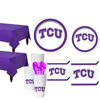 TCU Horned Frogs Basic Party Kit for 40 Guests