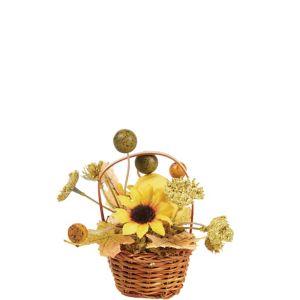 Mini Pumpkin Wicker Basket Decoration