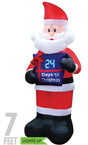 Light-Up Countdown Santa Inflatable