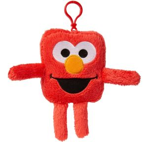 Clip-On Square Elmo Plush - Sesame Street