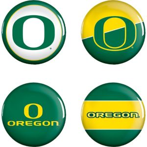 Oregon Ducks Buttons 4ct