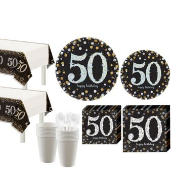 Sparkling Celebration 50th Birthday Party Kit for 16 Guests