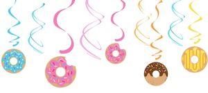 Donut Swirl Decorations 5ct